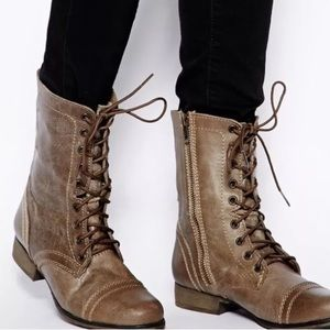 Steve Madden - Troopa Lace Up Combat Boots